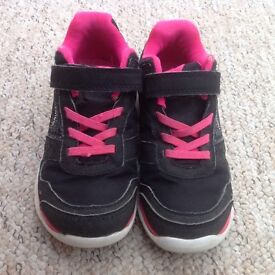 Girls black trainers - size 12