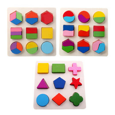 Children Baby Educational Wood Puzzle Jigsaw Shape Preschool Early Learning Toys - Preschool Learning Toys