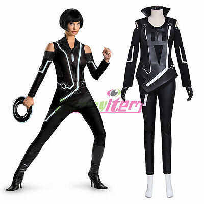 Tron: Legacy Quorra Adult Women's Jumpsuit Cosplay Costume  custom made (Tron Costume)