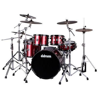ddrum REFLEX 522 RED SPKL Piece Drum Shell Pack, Red Sparkle