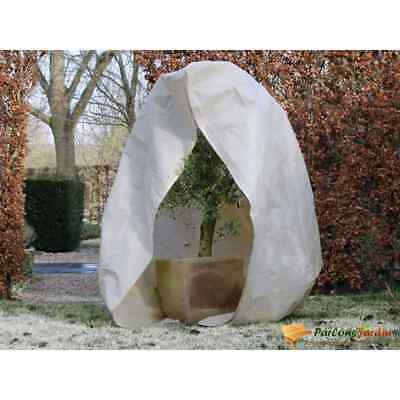 Nature Winter Cover Fleece With Zip 250x250x300cm Beige Plant Protection Bag