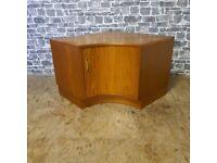Mid Century Corner TV Cabinet