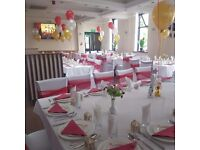 Ds Occasions party chair cover hire only 60p! Set up packages available.
