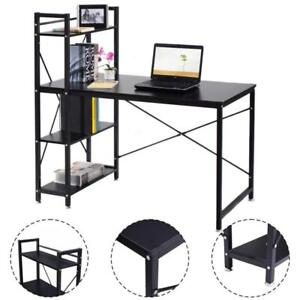 Modern Computer Desk With 4-Tier Shelves PC Workstation Study Table Home Office - BRAND NEW - FREE SHIPPING