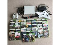 Xbox 360 Bundle - 2 Wireless Controllers, Guitar Hero Controller and 37 Games