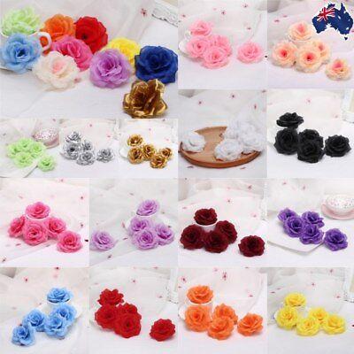5/20x Artificial Fake Flower Head Silk Rose Heads Bulk Wedding Party Home Decor - Bulk Fake Flowers