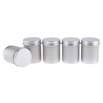 5Pcs Round Aluminum Jar Pot Container Cosmetic DIY Candles Tin Cans 80ml