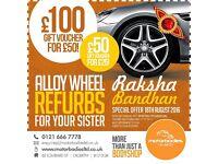Alloy wheel refurb, alloy wheels, tyres
