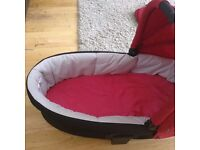 Mamas and Papas red carry cot