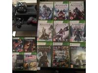 XBOX 360 , 2 Controllers, 13 Games