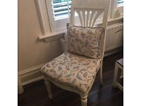 Shabby chic chair with cushion