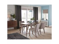 Stunning Elba Walnut Dining Table and 4 Chairs RRP £399.99 (built but not used)