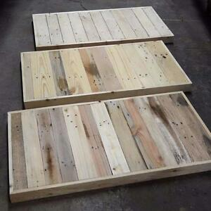 Small Table Tops, for coffee table and desks, made in reclaimed pallet wood, glued solid wood panels, live edge slabs