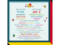 2 V FEST TICKETS (Tickets only) Hylands Park Chelmsford - P!nk Headlining - Saturday 19/08/17