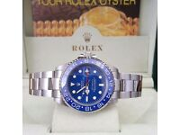 BLACK FRIDAY £120 SILVER BLUE GMT MASTER II OR £140 ROLEX BOXED WITH PAPERWORK FREE MICHEAL KORS