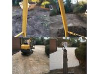 Mini digger and driver, fully insured, derbyshire