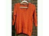 Thick Knit Autumnal Jumper size S