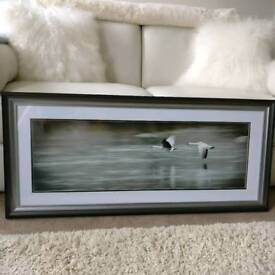 Large flying geese picture, never been hung.