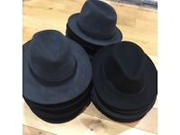100% AUTHENTIC VINTAGE CHRISTY'S LONDON & WILLDERS LIMITED UNISEX FEDORA TRILBY WOOL HATS.
