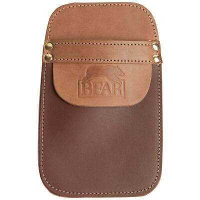 TAN SUEDE LEATHER SIDE//HIP QUIVER WITH POCKET ARCHERY PRODUCTS AQ142-RIGHT HAND