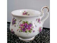 6 Teacups / Mugs set - Royal Albert, Violetta-Bone China, Vintage 1970s, Floral & Gold, Tea Party