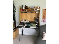 Timber and black desk