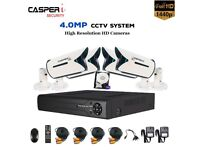 CCTV 4.0MP Camera AHD TVI In/Outdoor with 4CH HD DVR System Remote View 1TB Hard Drive