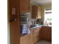 Full Oak Kitchen units + Ovens+ sink unit with taps