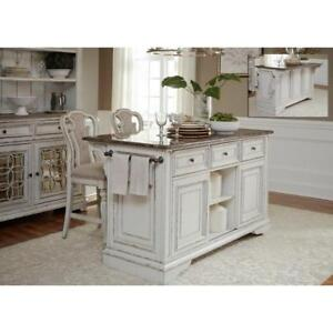 Magnolia Manor Dining Kitchen Island with Granite Countertop by Liberty Furniture NEW ** 5 CORNERS FURNITURE **