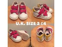 Various baby girl shoes