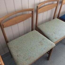 3 x Retro FINNISH Nordic Chairs - For Upcycling