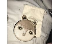 Fossil fox purse BRAND NEW authentic with fossil back and card