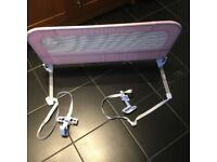 Mothercare bed guard in pink