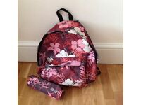 RO XY QUIKSILVER RUCKSACK WITH MATCHING PENCIL CASE