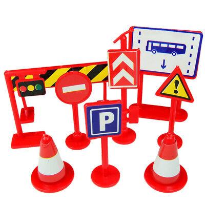 Car Toys Accessories Traffic Road Signs 9PCS Kids Children P