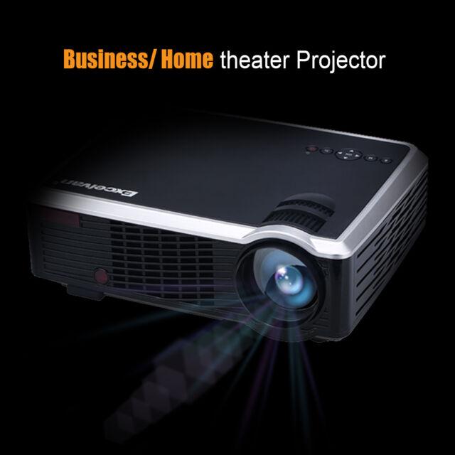 2500 Lumens 3D Projector 1080P Home Cinema Theater Multimedia TV VGA HDMI AV USB