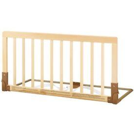 BabyDan Wooden Bed Guard Rail, Natural