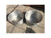 BARGAIN Extra large commercial cooking pots pans silver