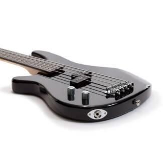 Casino Left Hand Bass Guitar - Black