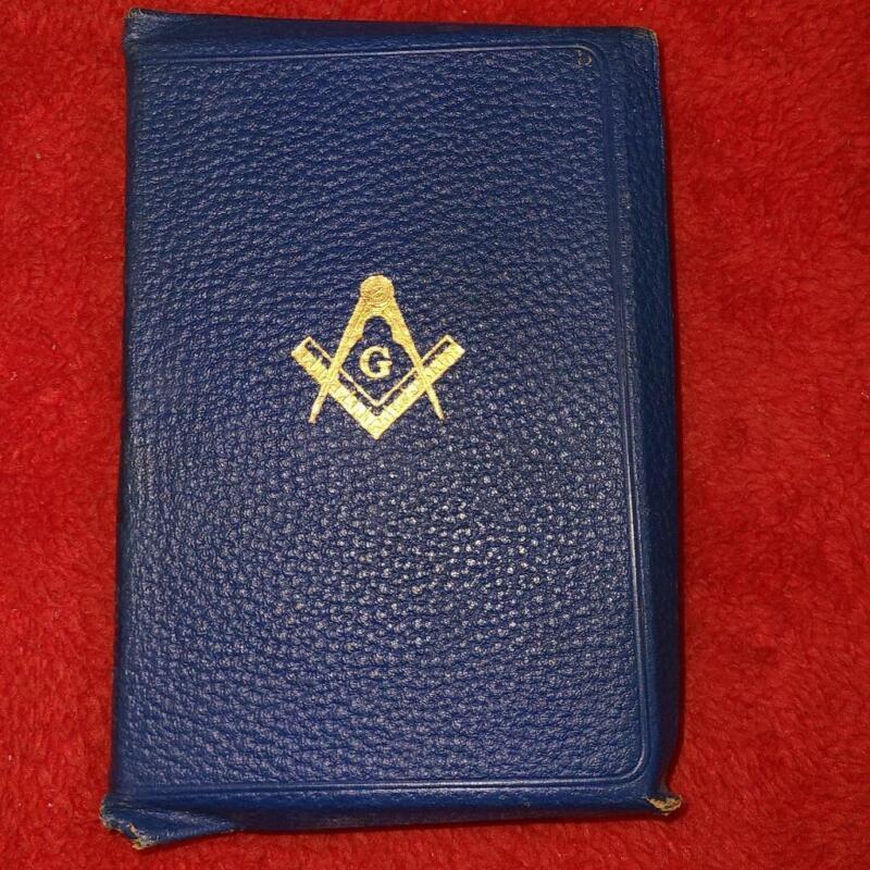 1925 Secret Freemason Masonic Bible Masonic Freemasonry Books Gold Leaf W/Box