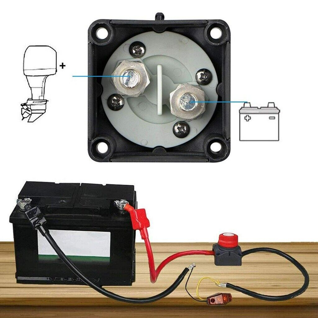 Car Suv Rv Marine Boat Battery Isolator Disconnect Rotary Switch 12v Cut On  Off