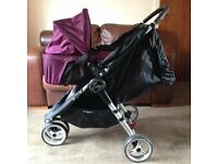 CAN POST EXCELLENT CONDITION BABY JOGGER CARRYCOT BASSINET FITS CITY MINI 3/4 GT ELITE SUMMIT PRAM