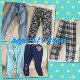 Aged 6/7 Years Trousers Bundle Girls