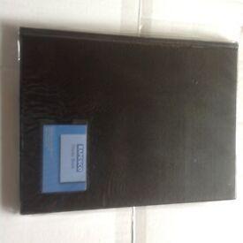 Two New Rapesco A4 Hardbacked Display books - 12 clear pockets
