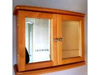 Bathroom mirrored cupboard