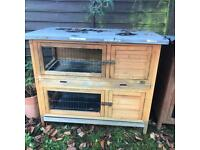 Small hutch suitable for guinea pigs or small dwarf rabbit