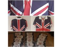 21 Union Jack Shirts Ideal for football team or stag do.6 Large.6 Extra Large.9 Extra Extra Large