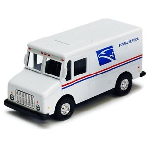 Diecast USPS Mail Toy Truck with Pullback Action