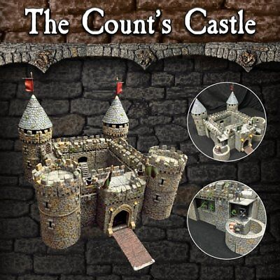 Dwarven Forge The Count's Castle (Expertly Hand Painted Dwarvenite ) Item #CO-P