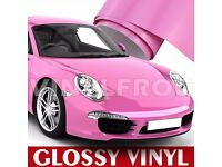 GLOSS PINK VINYL CAR WRAP, All Purpose Sticker Sheet Roll Film STICKER , All sizes Available